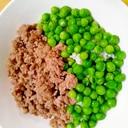 そぼろとグリーンピースの2色丼