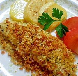 簡単ヘルシー♪オーブンでカリカリ香草パン粉焼き^^