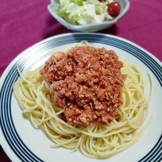 高野豆腐入り肉そぼろで♫簡単ミートソース
