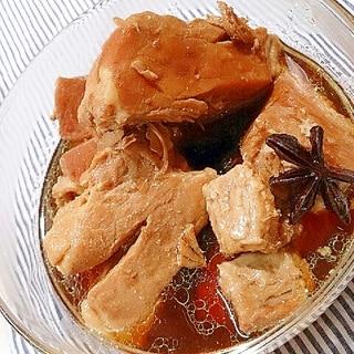 とんてき用の豚肉で角煮(圧力鍋)