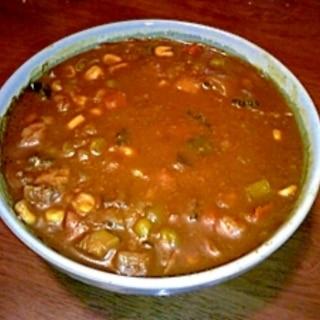 ゴーヤとナス、ズッキーニ、豆腐の元気カレー