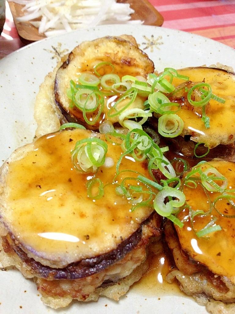 茄子 はさみ 揚げ なすの肉はさみ天ぷら ...