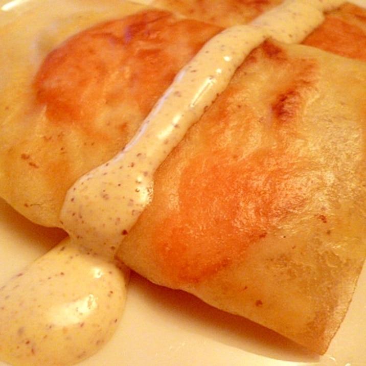 パリパリ☆春巻きの皮でポテトの包み焼き