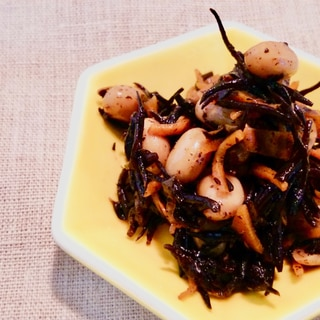 味付けは「すき焼きのたれ」!ひじきと大豆のさっと煮