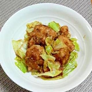 節約レシピ☆春キャベツで♪鶏ムネ肉のXO醤マヨ炒め