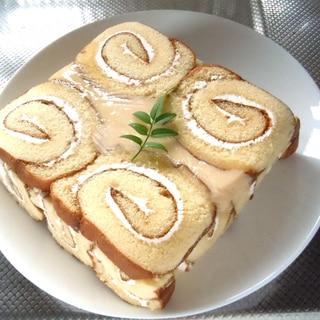 レンジで簡単スクエアーカスタードケーキ