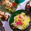 白菜と紅芯大根のおつまみ胡麻塩麹マリネ