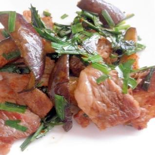 お弁当に☆なすと牛肉のピリ唐炒め