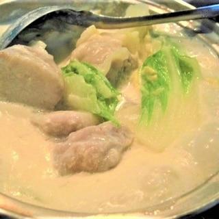 シュウマイ豆乳鍋