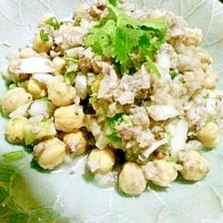 ひよこ豆とオイルサーディンのサラダ