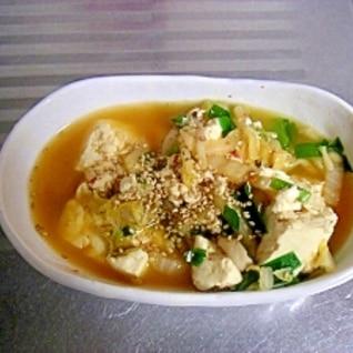 野菜もモリモリ食べちゃう!簡単キムチ豆腐