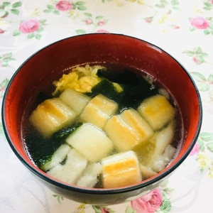 麩とキャベツの味噌汁