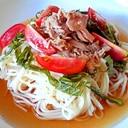 夏のお昼に。サラダ麺
