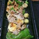 ルクエで豚なすピーマンの味噌蒸し