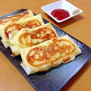 ポテトサラダで、焼きチーズ春巻き(^○^)