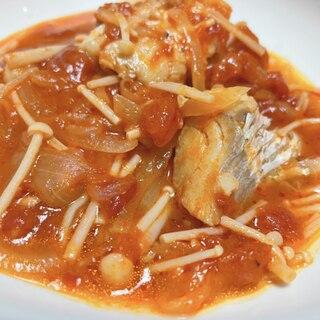 鱈とえのきのトマト煮