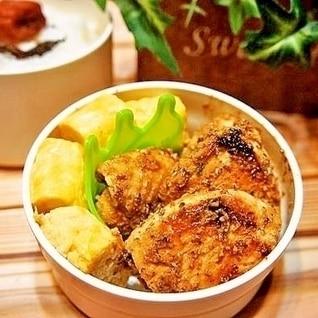 お弁当のおかず★しっとり鶏胸肉マヨ粒マスタード焼き