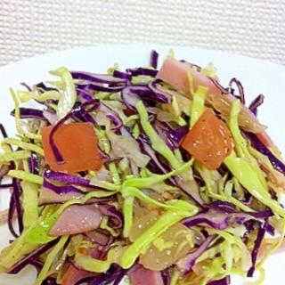 赤キャベツの花粉症対策サラダ