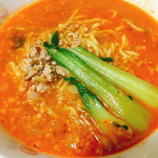 簡単だけど濃厚うまい、自家製スープの担々麺
