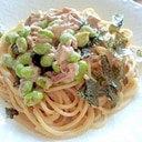 シーチキンマヨ&枝豆のパスタ