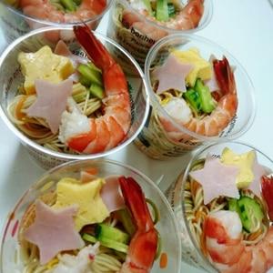 ★七夕パフェ素麺:*:・゚☆。:*パーティーにも♪