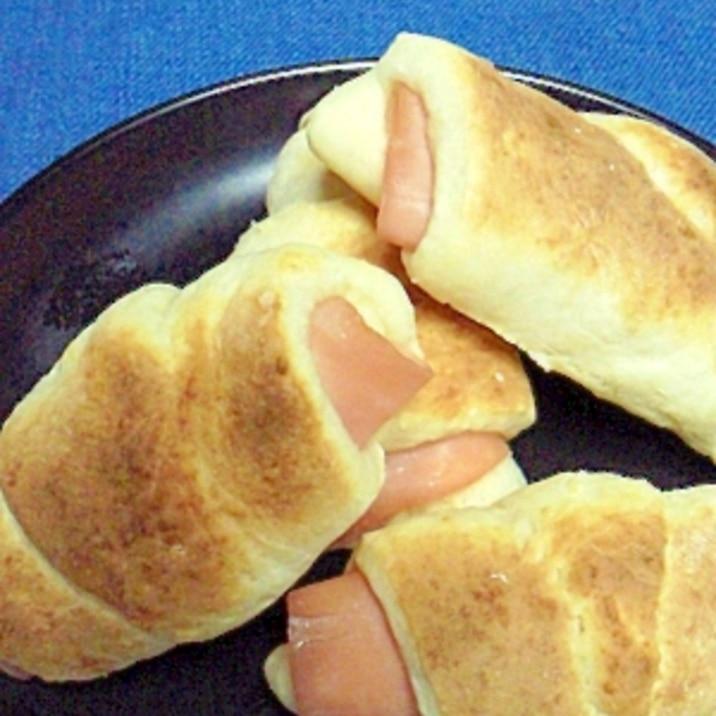 手軽な☆ハムロールパン