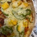 卵焼きとピーマンのピザ
