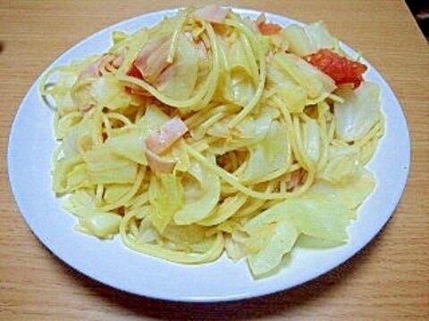 春キャベツとトマトのコンソメパスタ