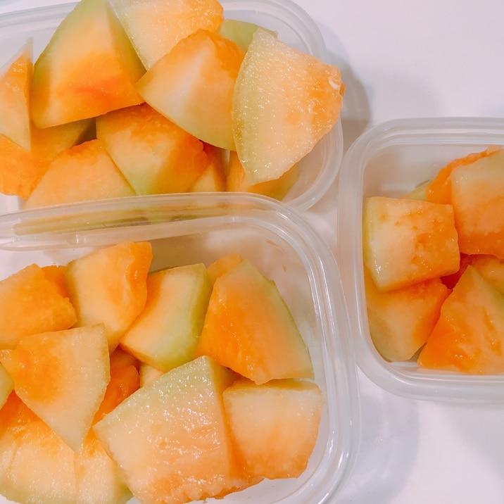 メロン冷凍保存方法