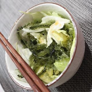 沖縄土産レシピ★海ぶどうの簡単サラダ