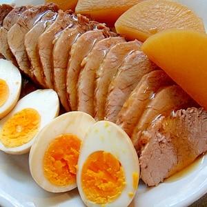 大根とゆで卵入り煮豚