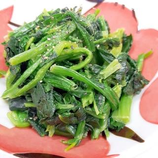 簡単(^^)お弁当に冷凍ほうれん草のニンニク炒め♪