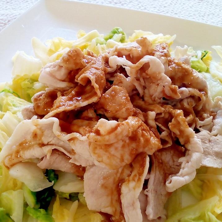 ♪ゴマだれで♡豚冷しゃぶと白菜のサラダ♪