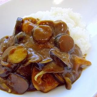 夏の辛ウマ*15分*茄子と舞茸と鶏胸肉のカレー*