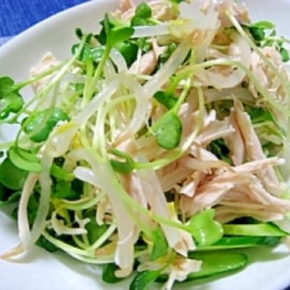 簡単でうまい!鶏ささみともやしの中華サラダ