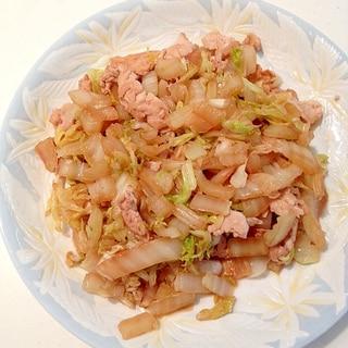余った豚しゃぶ肉と白菜の甘酢炒め
