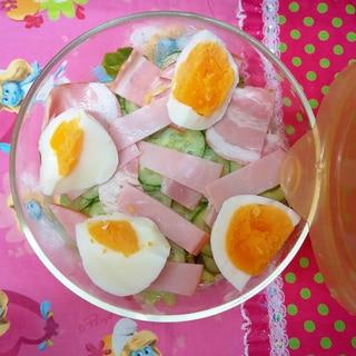 塩麹ドレッシングサラダのお弁当