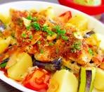 白身魚とカラフル野菜のごちそうグリル