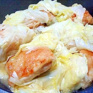 【作り置き】キャベツと鶏肉の蒸し旨煮
