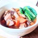 和風!豚もも肉とたっぷり野菜のおかずスープ