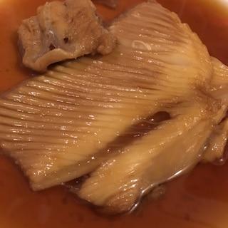 フライパンで かすべの煮付
