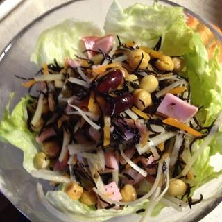 お豆と牛蒡のサラダ