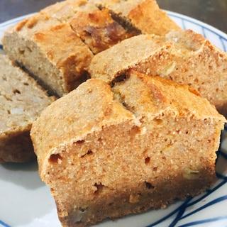 ノンオイル 全粒粉と希少糖のバナナパウンドケーキ