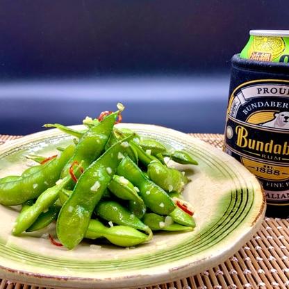 ビールと相性抜群のおつまみ!簡単枝豆ペペロンチーノ