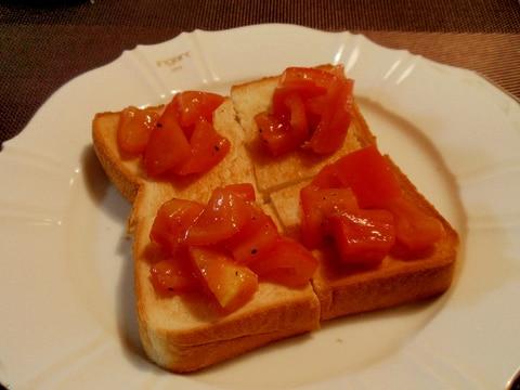 食パンでブルスケッタ風☆彡