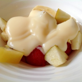 カスタードソースのフルーツサラダ