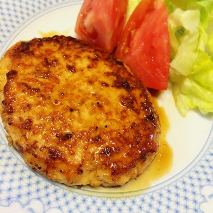 簡単ヘルシー★豆腐と鶏ひき肉のハンバーグ