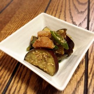 【一寸一品】お茄子と青唐辛子の味噌炒め