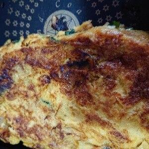 お弁当おかず@梅干しと三つ葉の玉子焼き