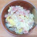コンビーフハッシュの卵炒め